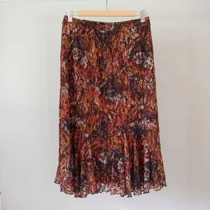 Christopher & Banks Floral Lace Skirt Size Small